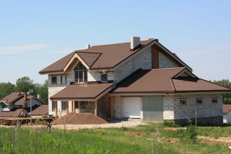 Построенный загородный дом